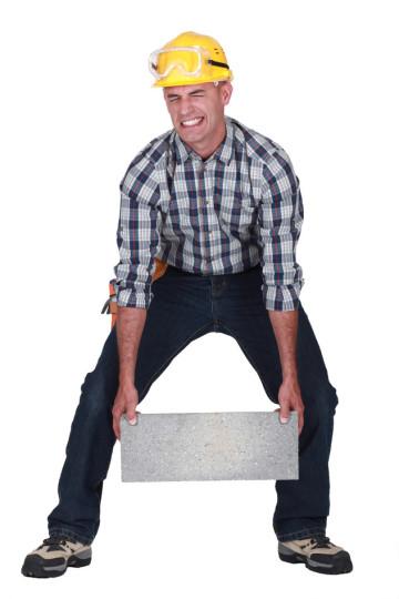 richtiges heben von schweren lasten bauunternehmen24. Black Bedroom Furniture Sets. Home Design Ideas